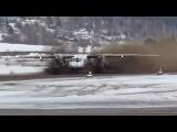 Взлет Ан-24 из Бодайбо, с расскисшей ВПП.